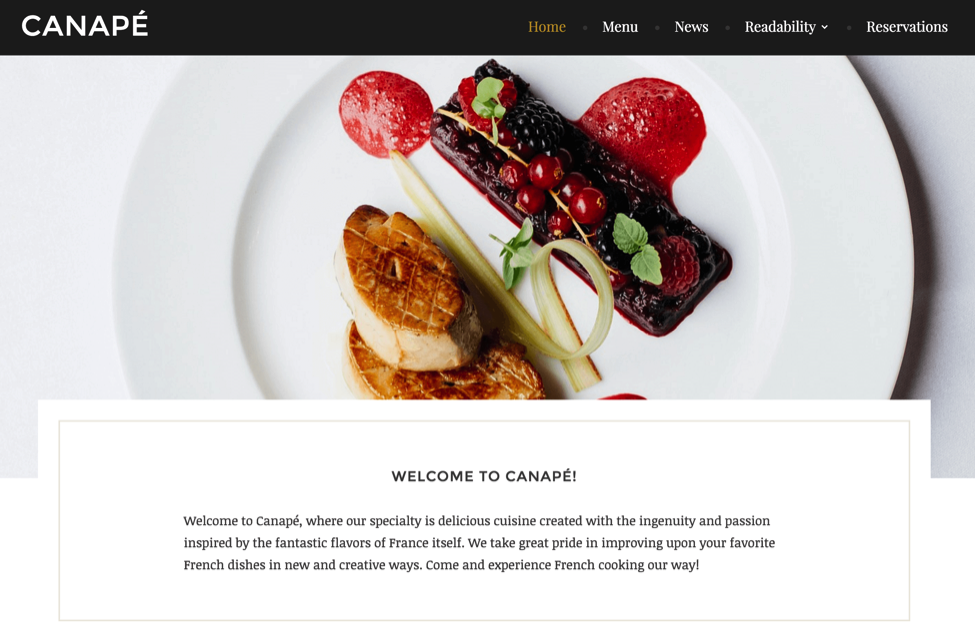 Canapé WordPress Theme