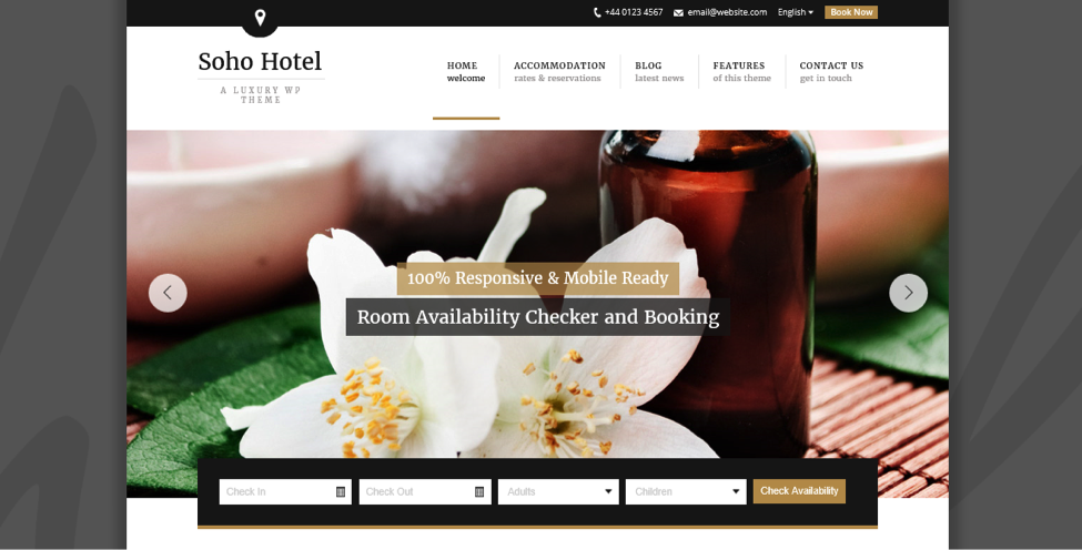 Soho Hotel WordPress Theme