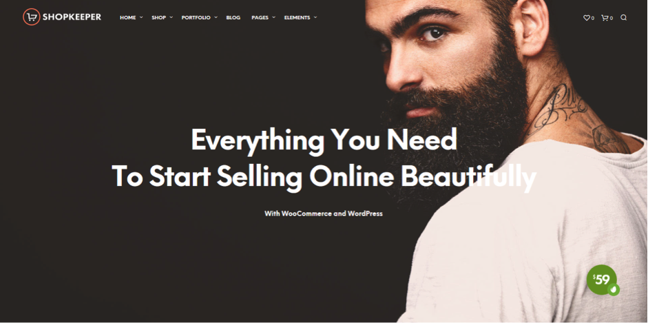 Shopkeeper e-commerce Theme for WordPress