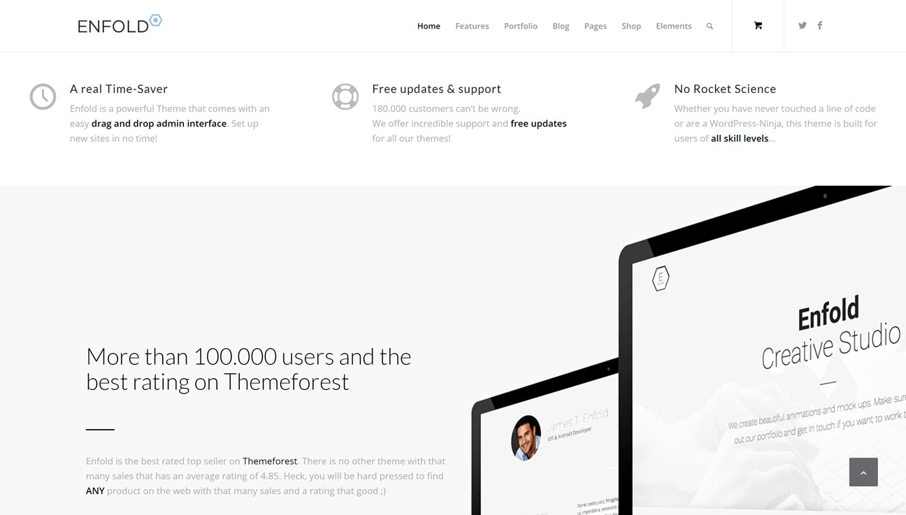 enfold review a multipurpose and powerful wordpress theme 2017 homepage demo