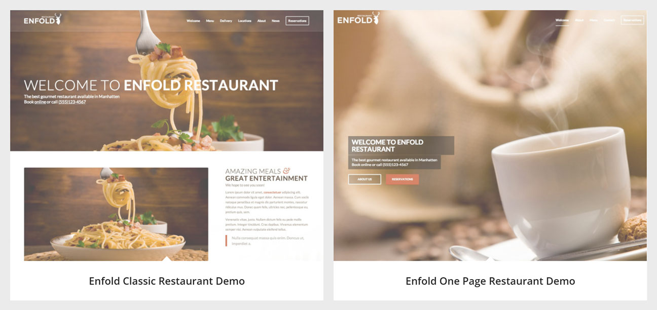 Enfold Restaurant Demos