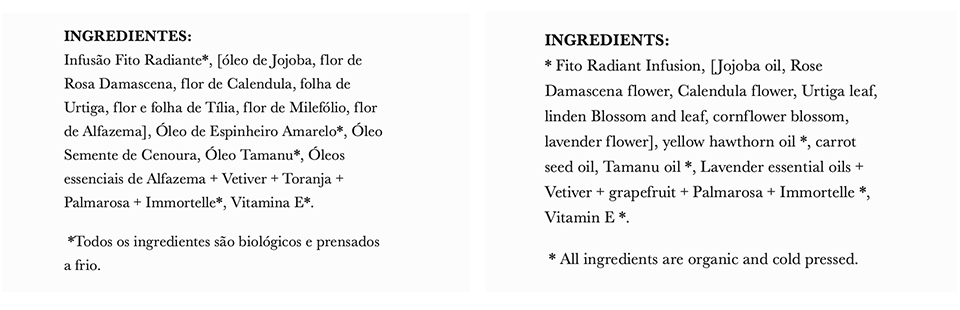 Mafalda Pinto Leite's ingredient lists