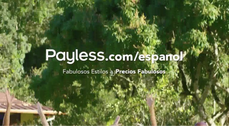 "Payless español home page. It says ""Fabulous styles at fabulous prices"" in Spanish."