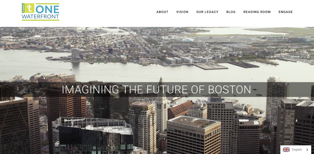 screenshot of the one waterfront initiative