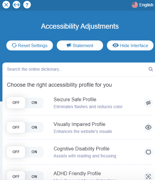 accessibility adjustments