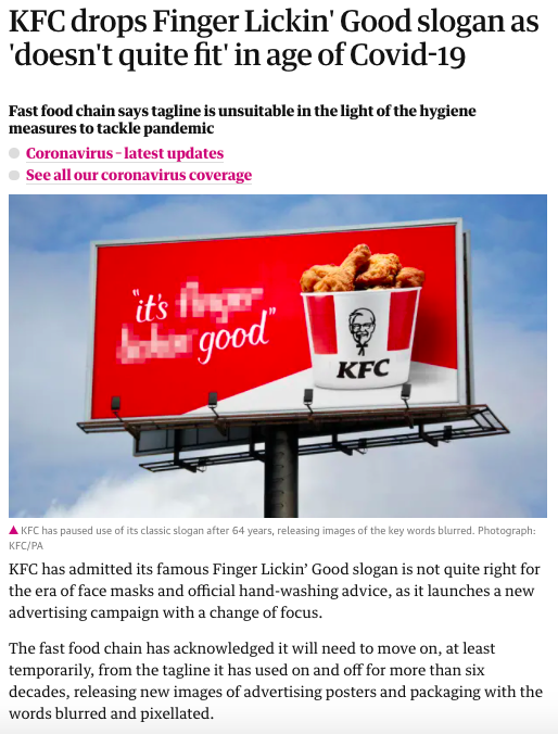 Article in The Guardian about bad KFC translation