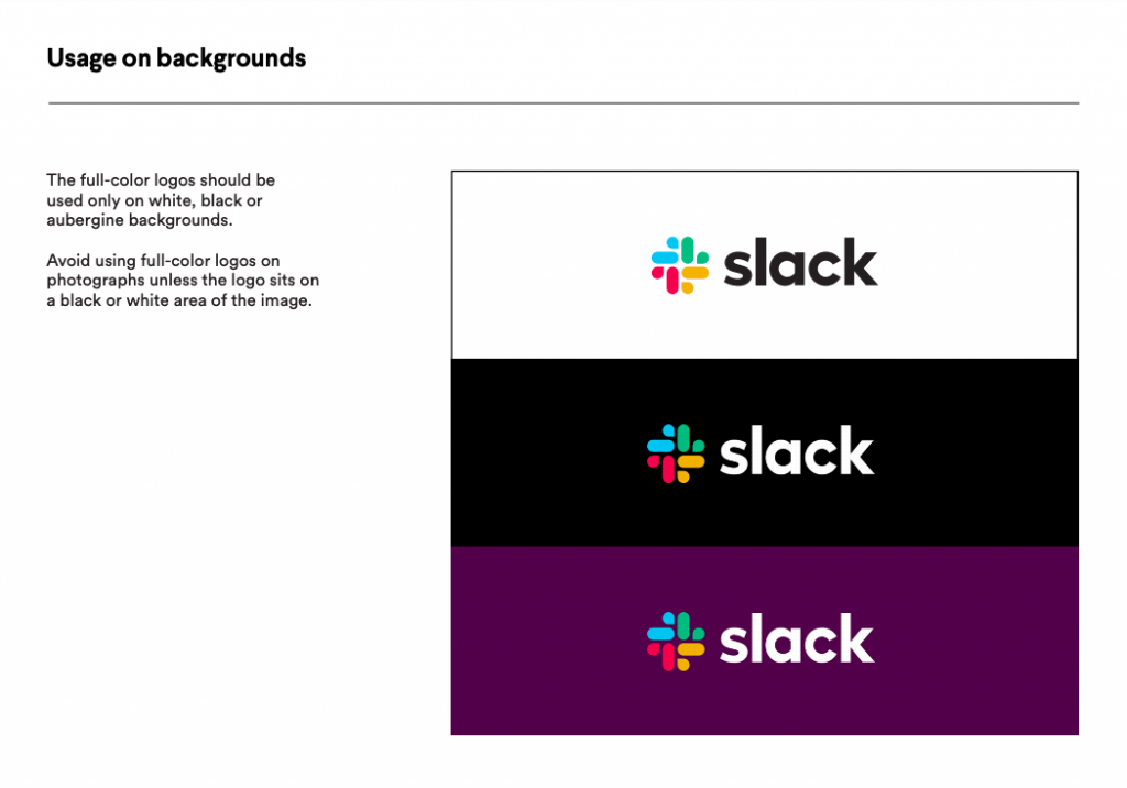 Slask has a specific style guide for Company branding