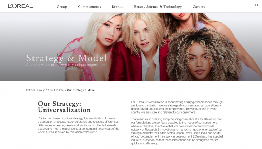 L'Oreal strategy