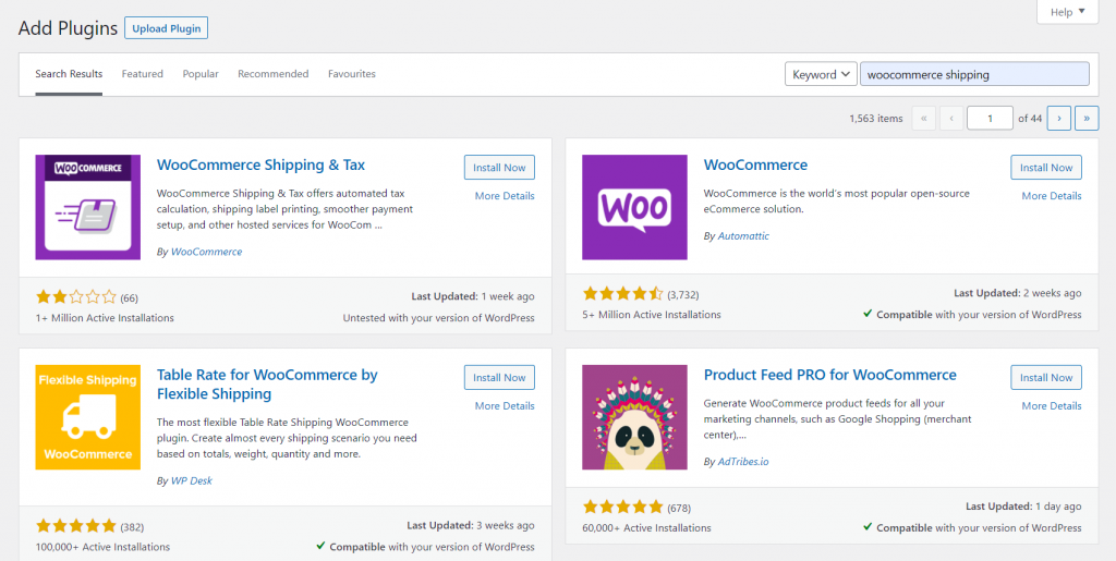 Installing the WooCommerce Shipping & Tax extension